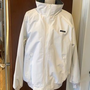 Lands' End Therma Check Fleece Coat Size Large